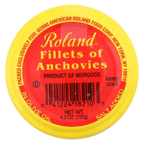 Roland Products Anchovy Fillet - Olive Ol - Jar - Case Of 6 - 4.2 Oz