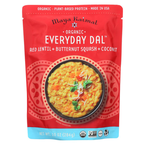 Maya Kaimal - Organic Everyday Dal - Red Lentil Butternut Squash Coconut - Cs Of 6 -10 Oz
