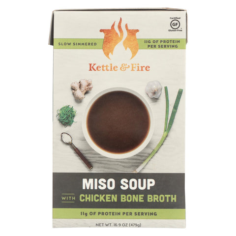 Kettle And Fire Soup - Miso Soup - Case Of 6 - 16.9 Oz.