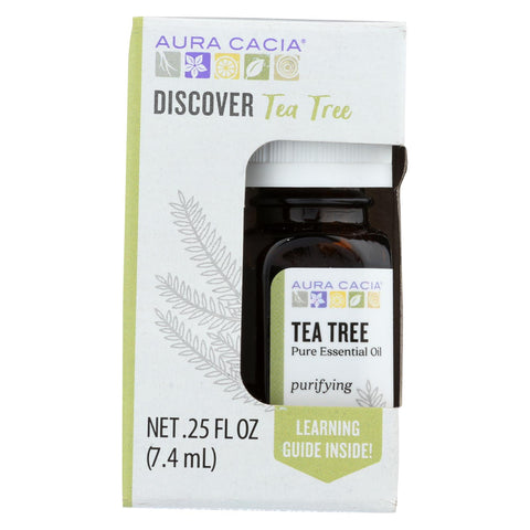 Aura Cacia - Discover Essential Oil - Tea Tree - Case Of 3-.25 Fl Oz.