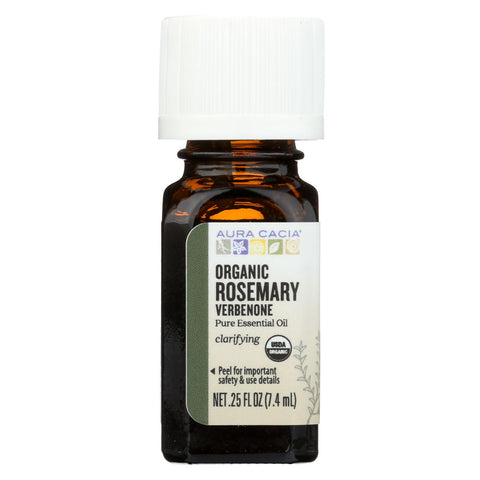 Aura Cacia - Essential Oil - Rosemary, Verbenone - Case Of 1 - .25 Fl Oz.