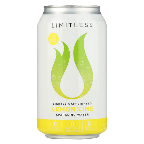 Limitless Coffee Sparkling Caffeinated Water - Lemon Lime - Case Of 1 - 8-12 Fl Oz.