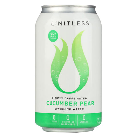 Limitless Coffee Sparkling Caffeinated Water - Cucumber Pear - Case Of 1 - 8-12 Fl Oz.
