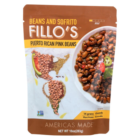 Fillo's Beans - Puerto Rican Pink Beans - Case Of 6 - 10 Oz.