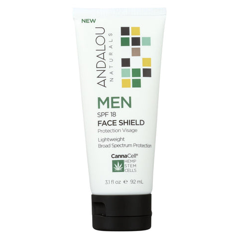 Andalou Naturals - Face Shield Men Spf 18 - 3.1 Fl Oz.