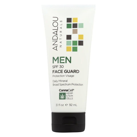Andalou Naturals Face Guard - Daily Mineral Broad Spectrum Protection - 3.1 Fl Oz.