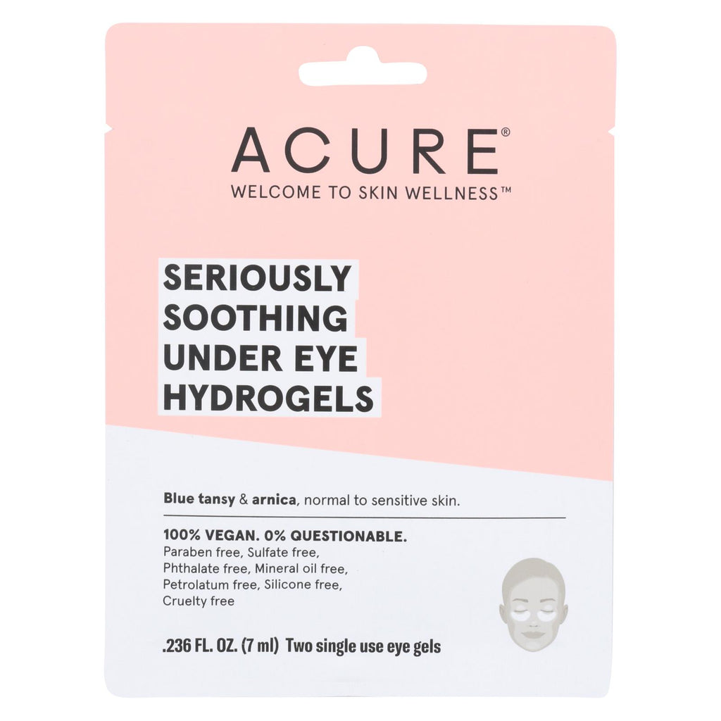 Acure - Seriously Soothing Under Eye Hydrogels - Case Of 12 - 0.236 Fl Oz.