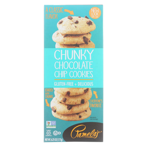 Pamela's Products - Cookies - Chunky Chocolate Chip - Gluten-free - Case Of 6 - 6.25 Oz.