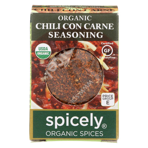 Spicely Organics - Organic Seasoning - Chili Con Carne - Case Of 6 - 0.45 Oz.