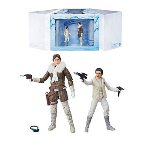 IN-STOCK!! Star Wars The Black Series Hoth Princess Leia Organa and Han Solo 6-Inch Action Figures - Exclusive