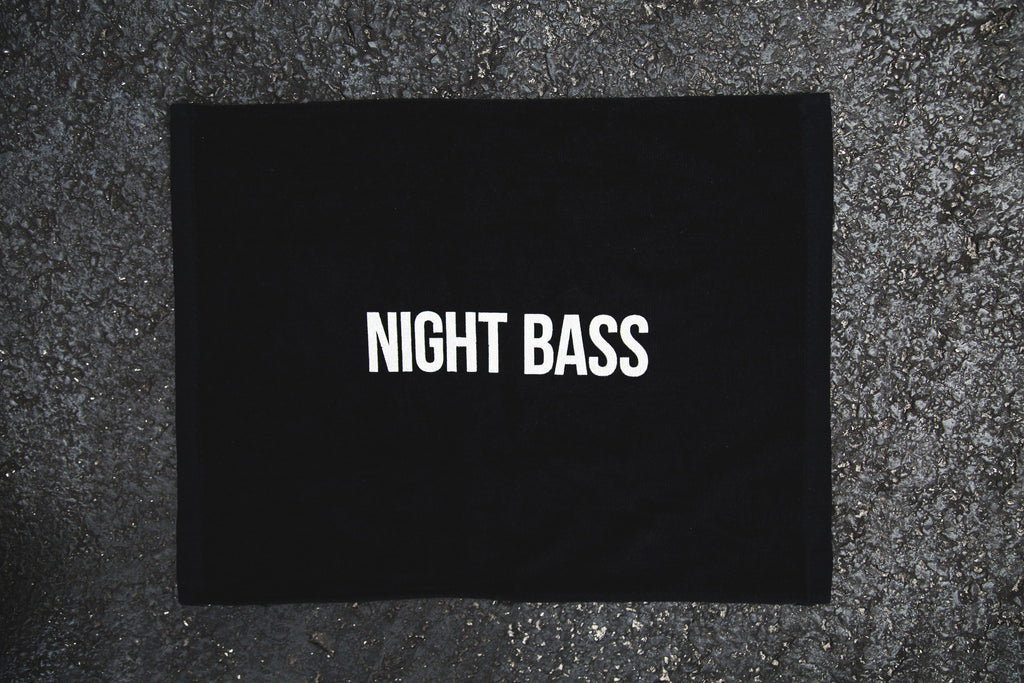 Black Night Bass Party Towel