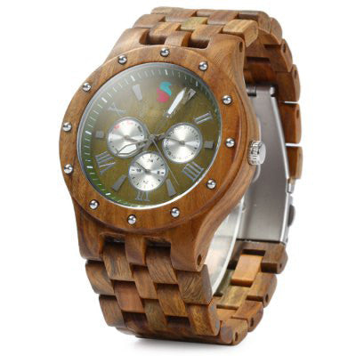 Classic Wooden Design Watch