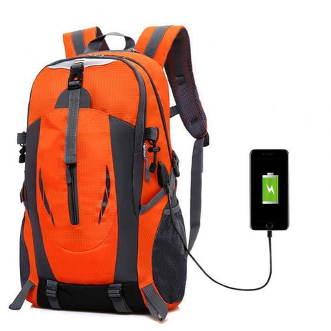 Rugged Large Capacity USB Charging Backpack