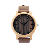 Leather & Wooden Quartz Watch