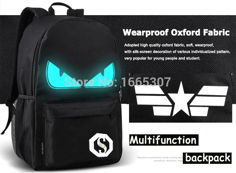 Articulated Lighted USB Charging Backpacks
