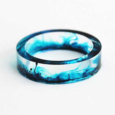 Unique 3D Ring - Bluesmoke