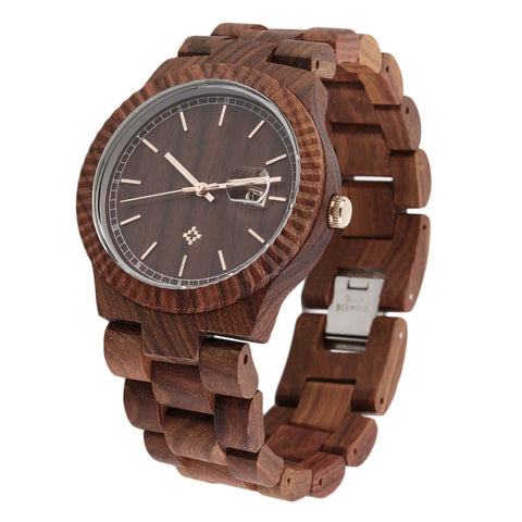 Classic Style Wooden Wristwatch