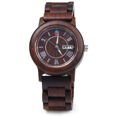 Classic Natural Wooden Maple Quartz Watch