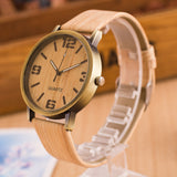 Wooden Watch with Leather Straps