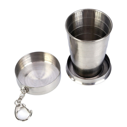 Stainless Steel Collapsible Keychain Cup