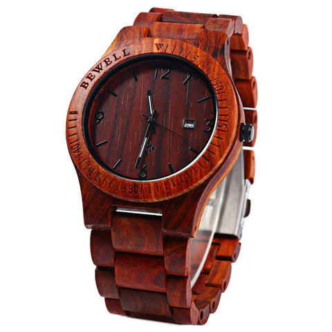 Classic Wooden Wristwatch with Quartz Movement