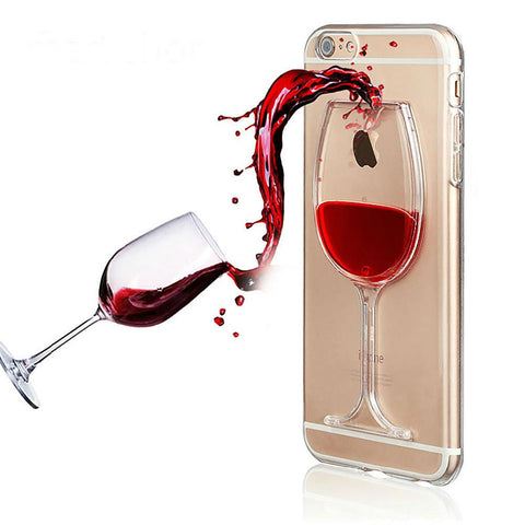 Liquid Red Wine Clear Phone Case