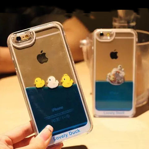 iPhone Case - 3D Flowing Liquid w/ Duck