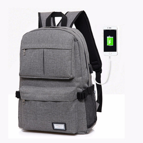 Unisex USB Charging Backpack