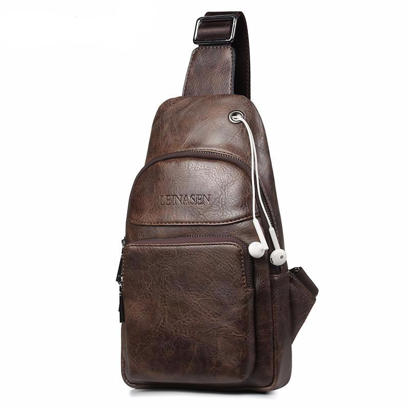 Leather Messenger Pack