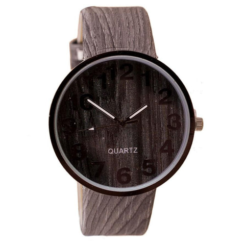 Wooden Style Leather Quartz Watc