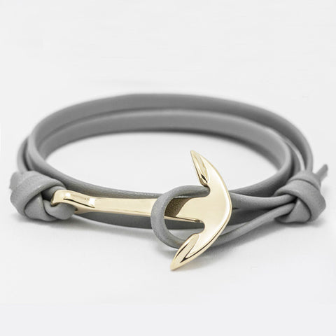 Hand Woven Leather Anchor Bracelet