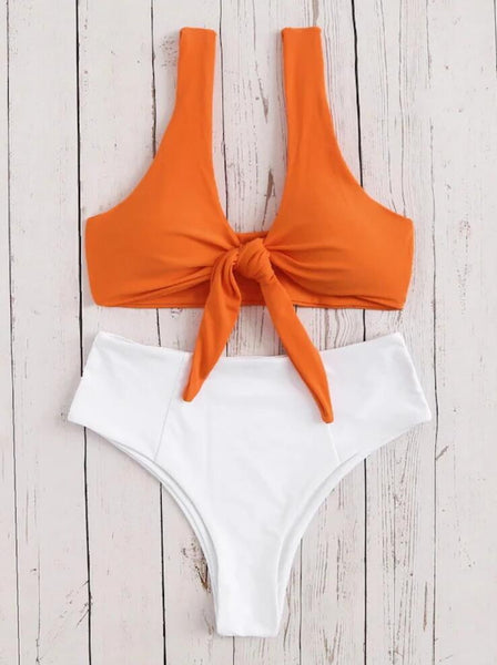 High Waist Swimsuit Bikini Set Swimwear