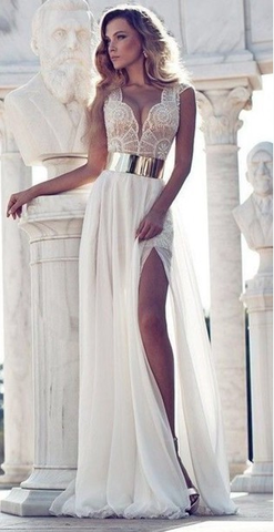 FASHION SLEEVELESS LACE DRESS