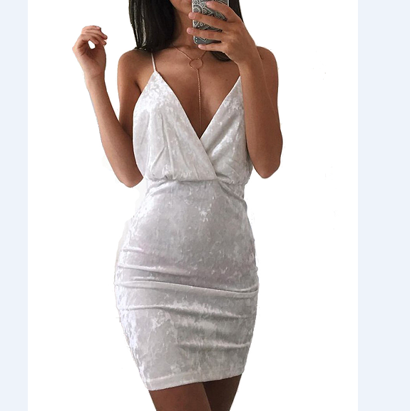 Sexy White Pack Hip Mini Dress