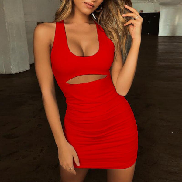 Sexy Sleeveless Backless Bandage Dress