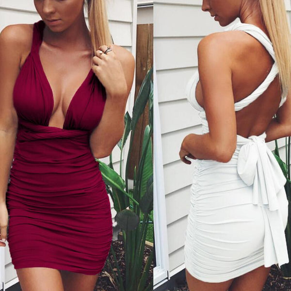 Womens Sexy Bandage Bodycon Dress
