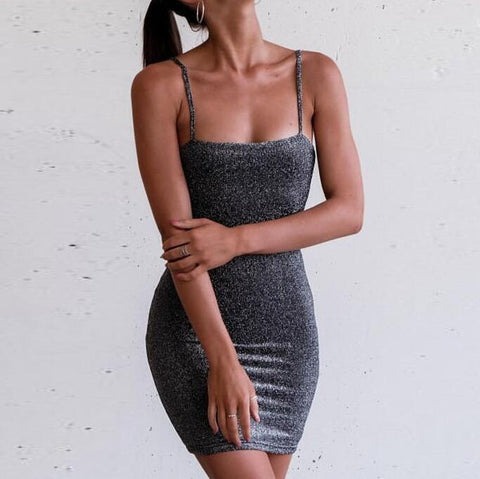 Sexy Sleeveless Sling Dress Black