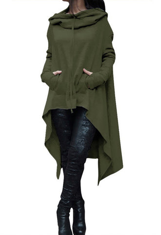 Solid color Hooded Sweater