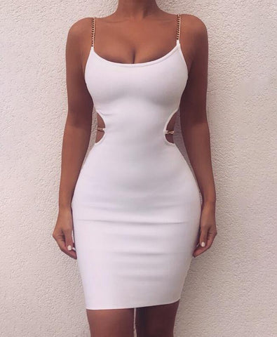 Sexy Sling Backless Bodycon Dress