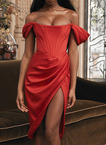 Women's Irregular Sexy Split Evening Dress