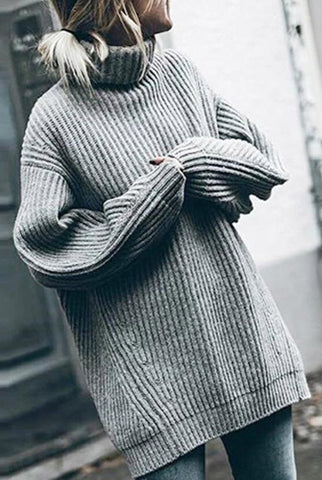 High Neck Pullover Thick Sweater
