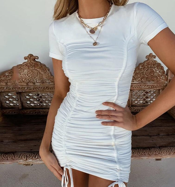 Bandage Short Sleeve Sexy Dress