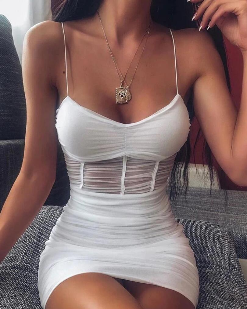 See-through Mesh Sexy Bodycon Dress