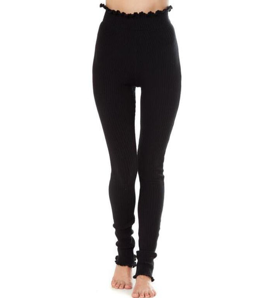 High Waist Elastic Skinny Pants