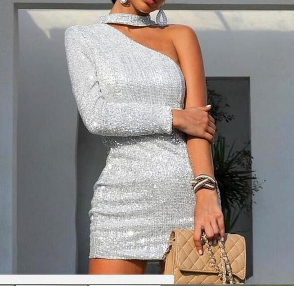 Fashion Long Sleeve Strapless Dress