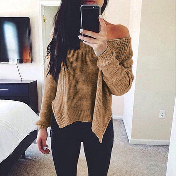 Women's Loose Fitting Sweater Top