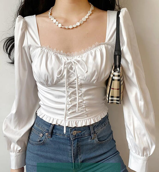 Fashion Long Sleeve Chiffon Shirt Top