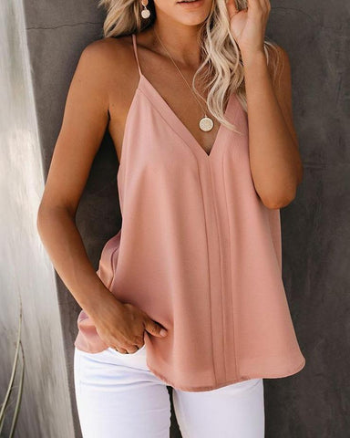 V-neck Sexy Sleeveless Vest Top