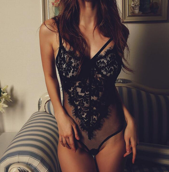 Sexy Backless Lace Jumpsuit Lingerie Underwear