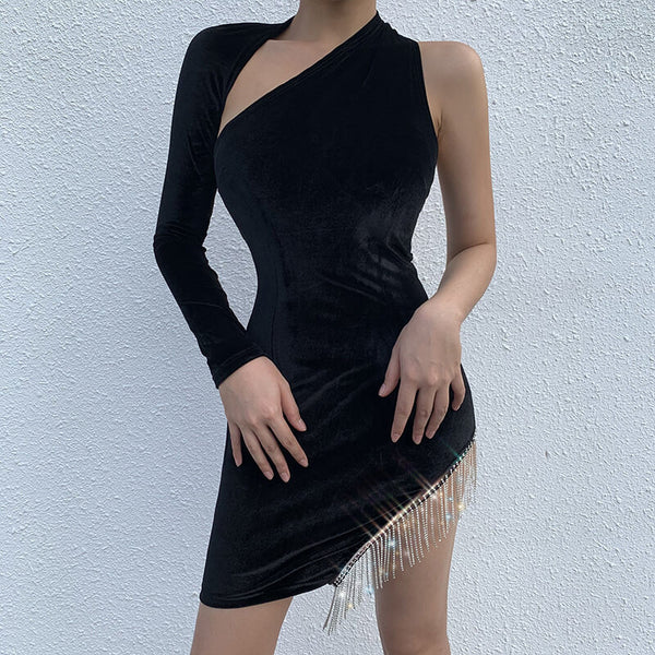 Fashion Irregular Fringed Dress